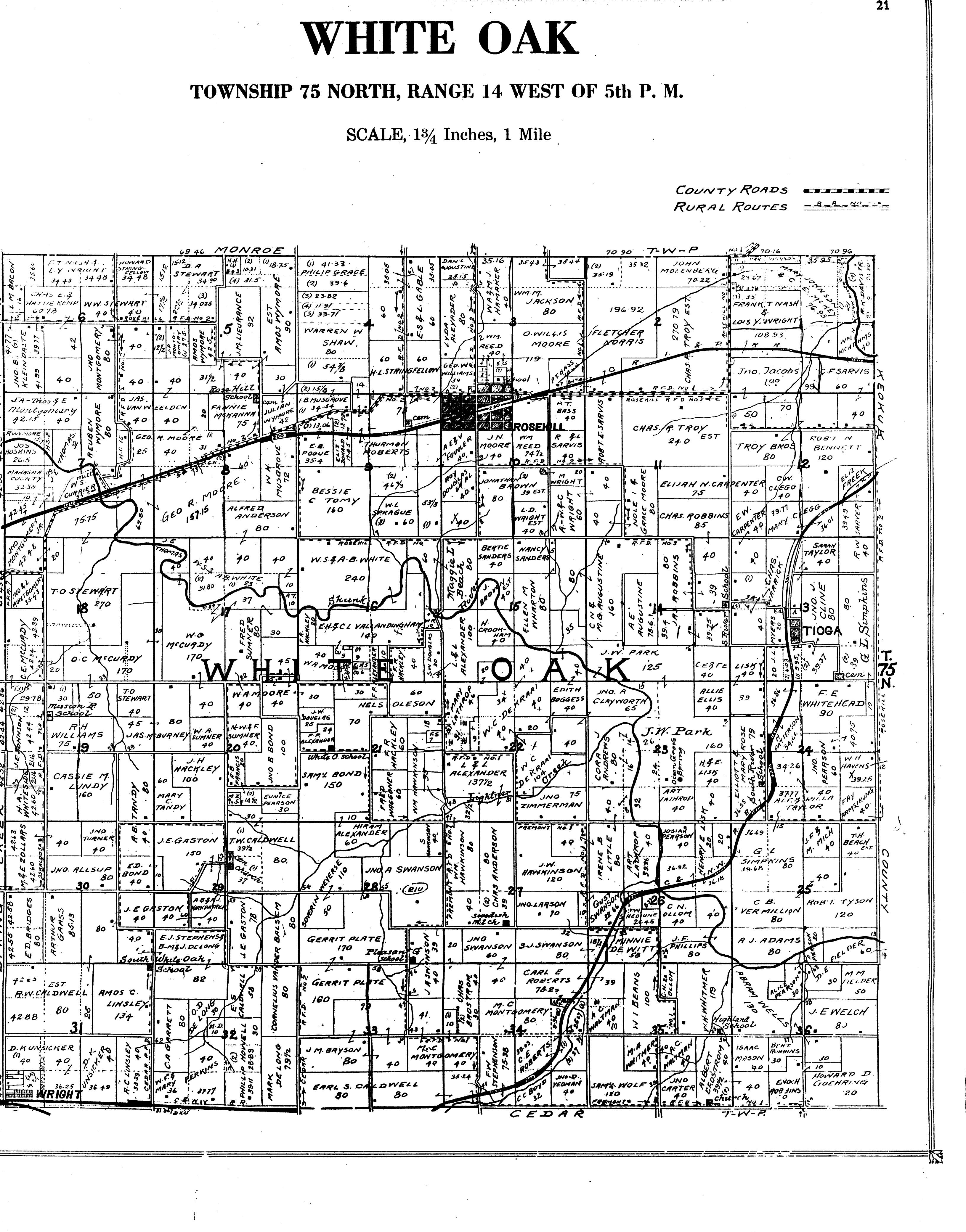 1920 Plat Maps Mahaska County Of Iowa