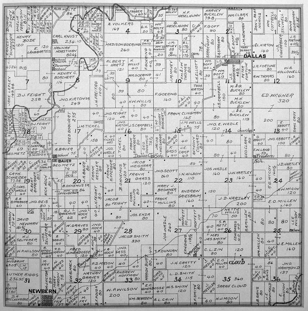 Dallas Township Plat map of Marion County, Iowa on