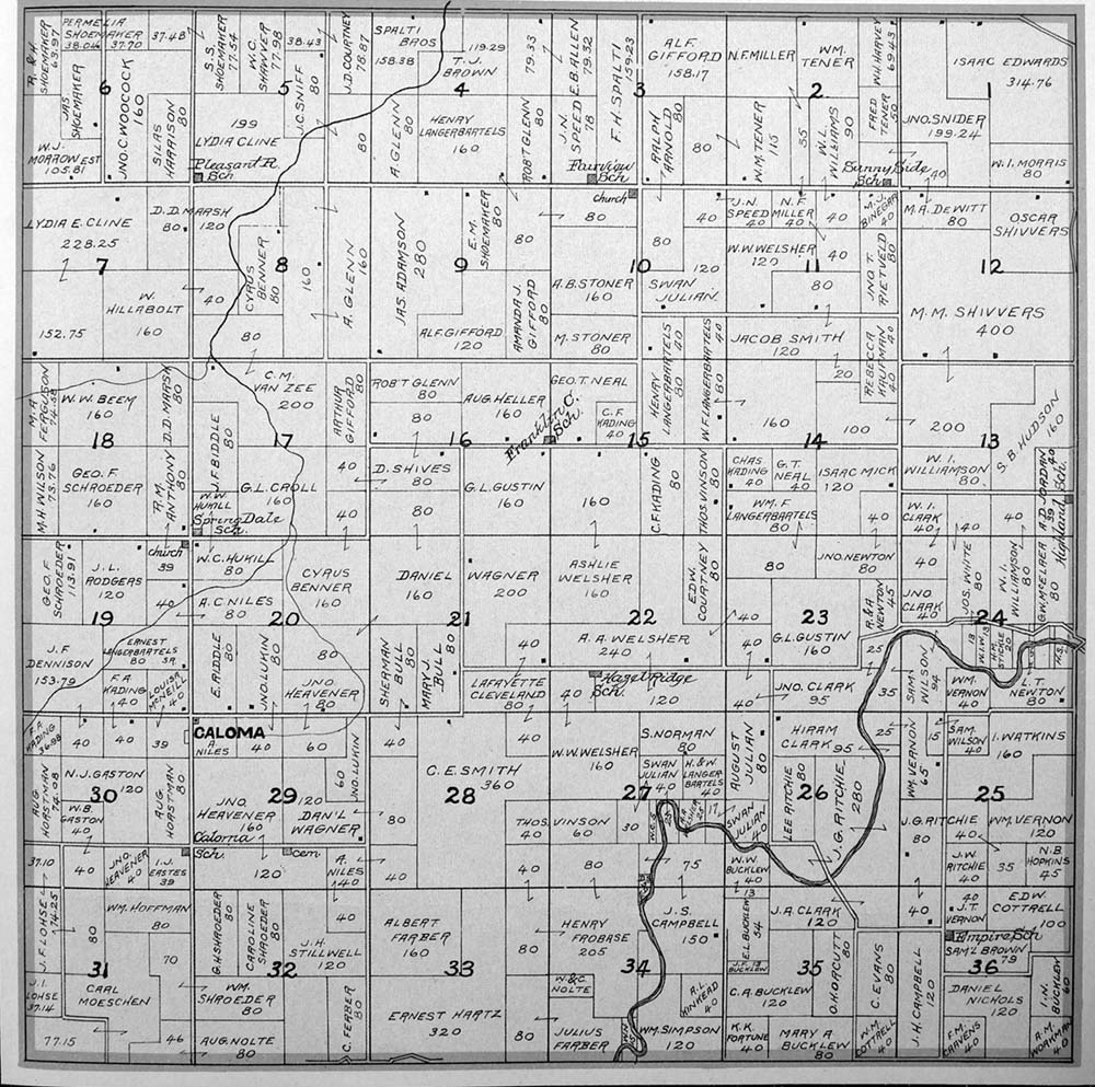 Franklin Township Plat Map Of Marion County Iowa
