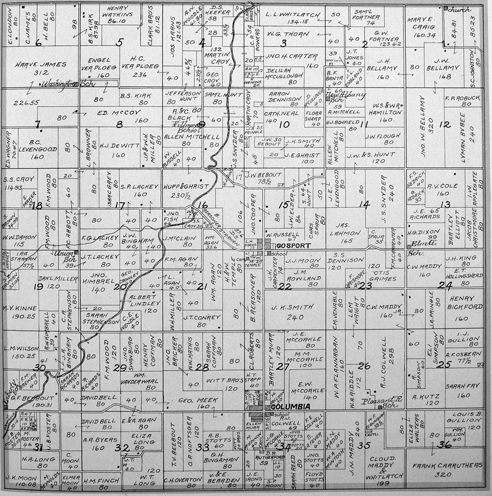 Washington County Iowa Map.Washington Township Plat Map Of Marion County Iowa