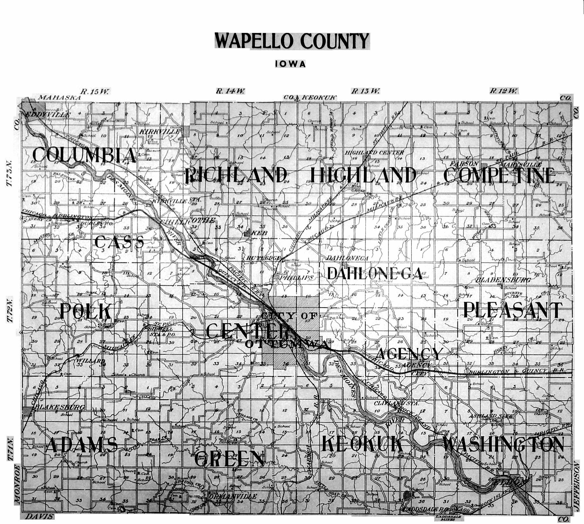 Wapello County 1922 Plat Maps